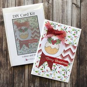 DIY Card Kit Christmas Pudding