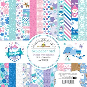 Doodlebug Design 6x6 Paper Pad Winter Wonderland